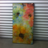 0124: Large Flower Painting
