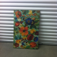 0125: Medium Sized Flower Painting on Canvas