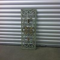 0136: Small Decorative Metal Grate (Green)