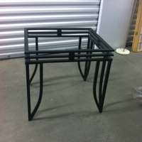 0165: Metal Table (Black) without Glass Top