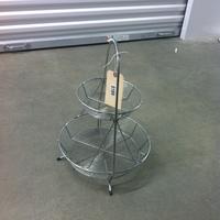 0189: Small 2-Level Metal Basket
