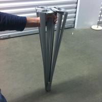 0191: Metal Table Legs (Grey)