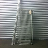 0196: Disassembled White Metal Shelf (Missing Plastic Clips)