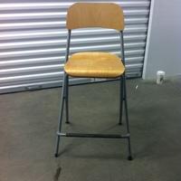0198: Tall Wooden Chair #2