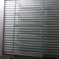 0142: White Metal Shelf