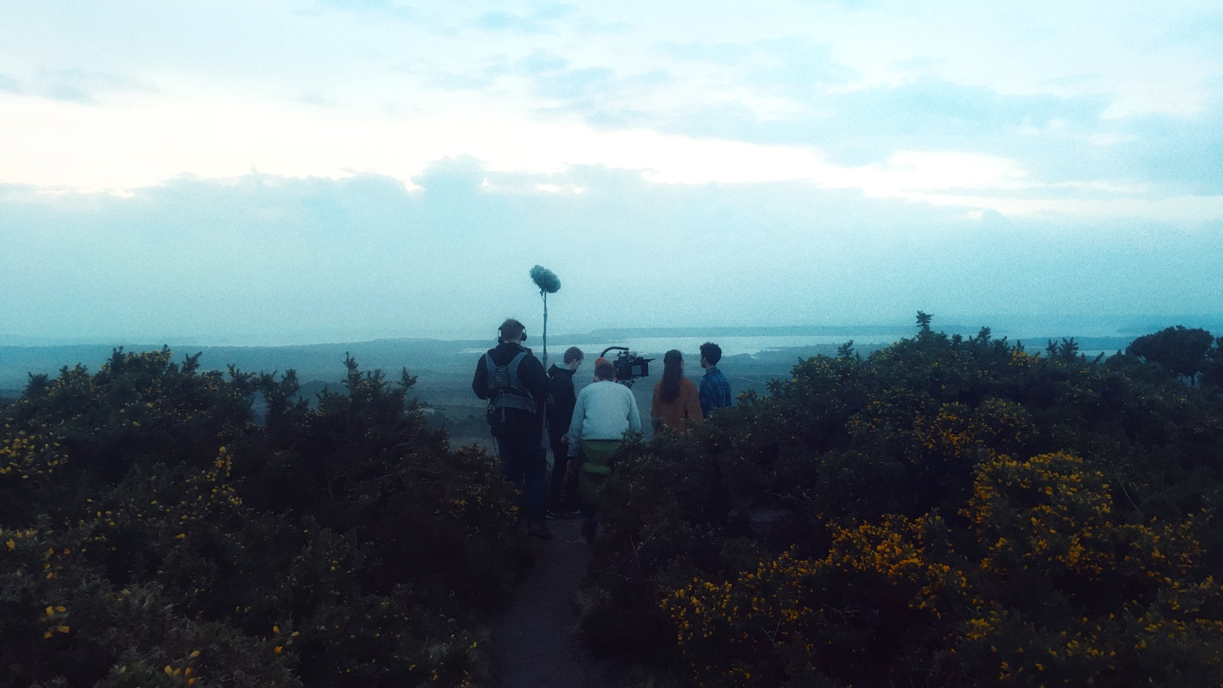 A touch of clifftop romance (with boom mic of course)