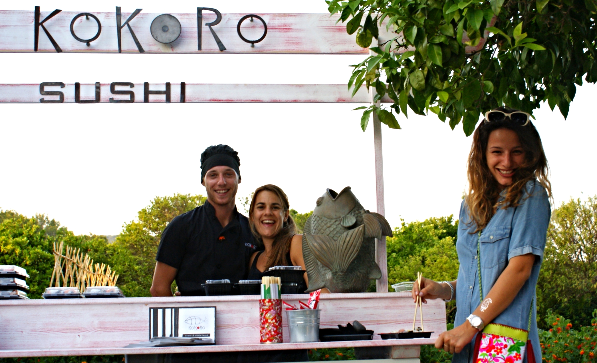 KOKORO SUSHI TEAM & Carlota Torrejón @IBIZA WORLD FAMILY