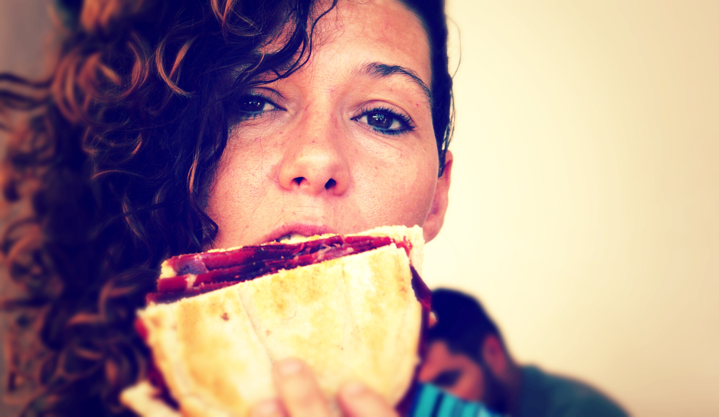 Laura goes for  Cecina  sandwich #yum