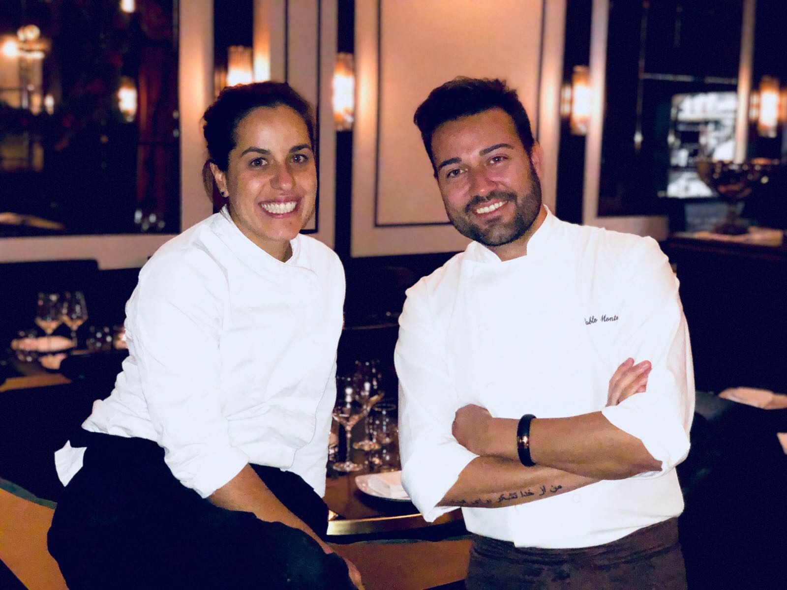 Pablo Montoro y Isabel Ribeiro al frente de la cocina de la IMprenta