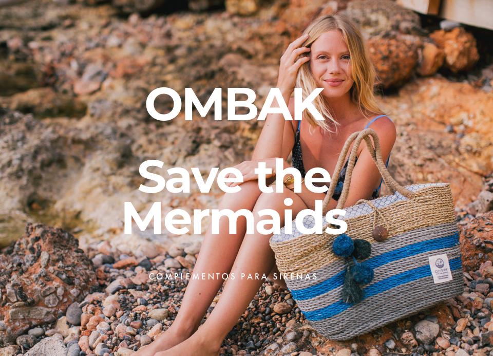 Salva las sirenas con los bolsos de  OMBAK  hechos con plástico reciclado del mar