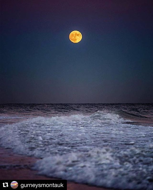 Little early out here yet.. Looks like Montauk has already witnessed the super moon 🌙!! #gurneys #supermoon
