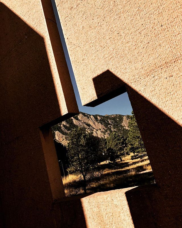 Quick morning hike up to NCAR... one of my favorite places that successfully celebrates Art, Science and Nature simultaneously. #boulder #IMPei