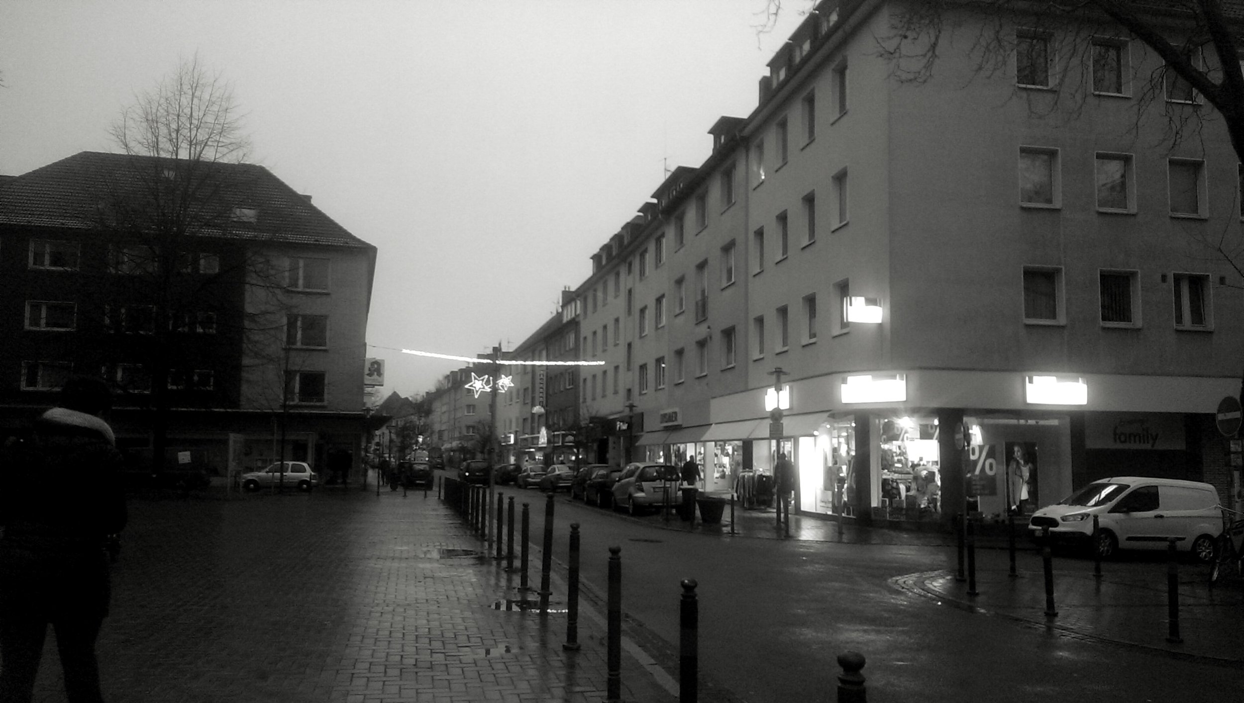 Essen. Not shown: snow flurries, unless you look closely.