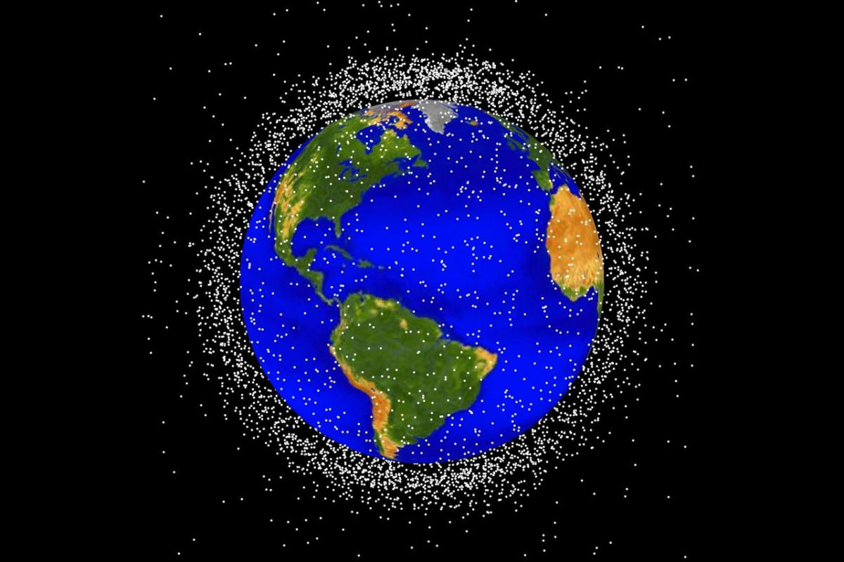 Low Earth orbit is the region of space within 2,000 kilometers of the Earth's surface. It is the most concentrated area for orbital debris. (Source: NASA Orbital Debris Program Office)