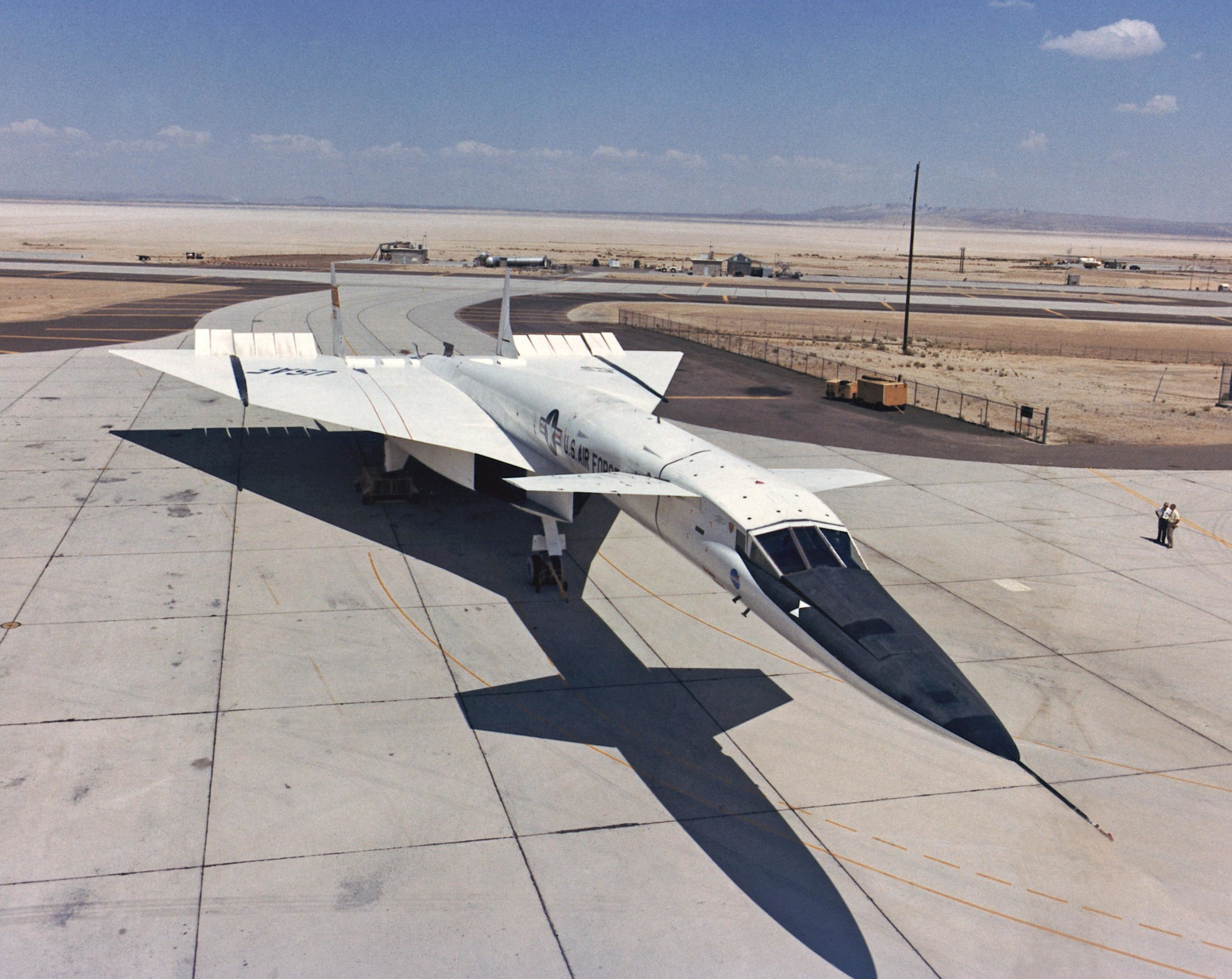 XB-70A Valkyrie on ramp. (Source: NASA)