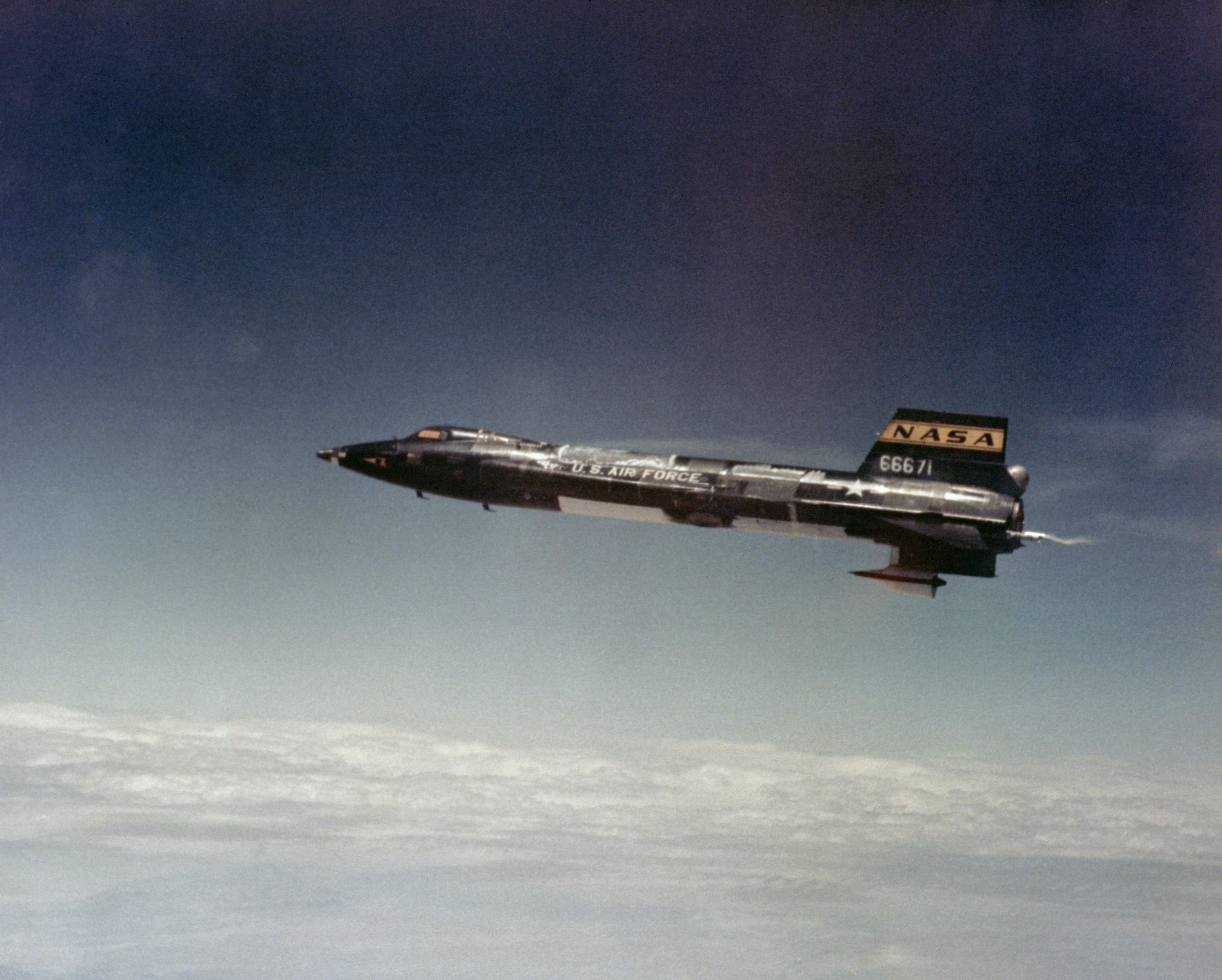 X-15A 2 in flight with a dummy ramjet attached. (Source: NASA)