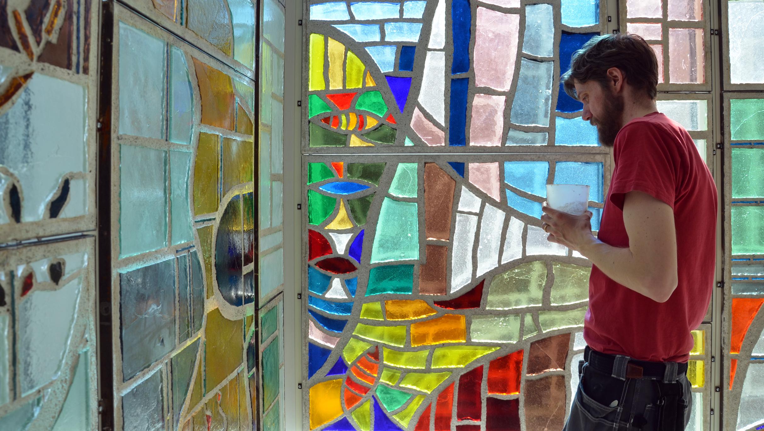 Konstverk i glas och betong 2015