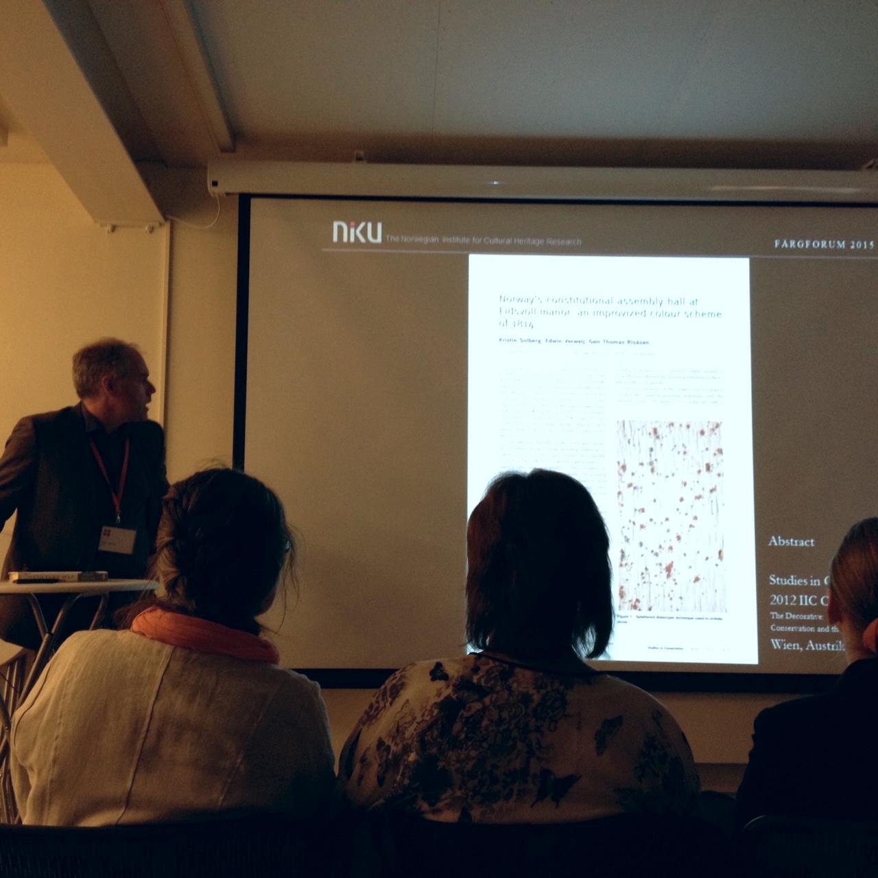 Edwin Verweij från NIKU i Norge delade med sig av några reflektioner kring en färgundersökning i relation till kvaliteten hos resultatet.