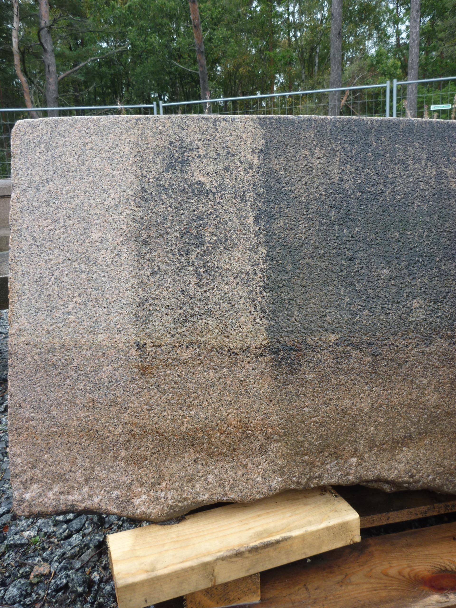Rengöringstester på graniten