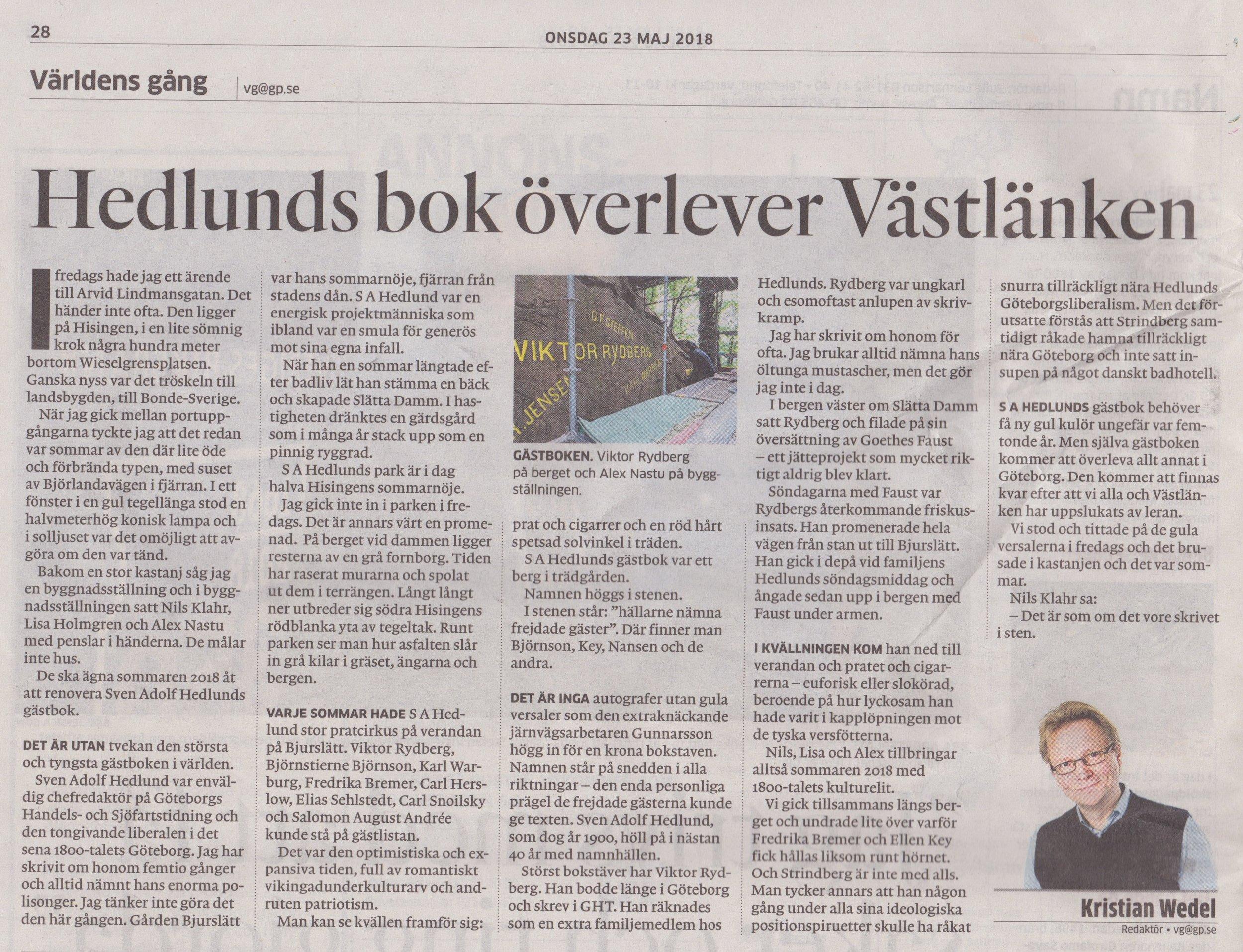Göteborgsposten 2018-05-23