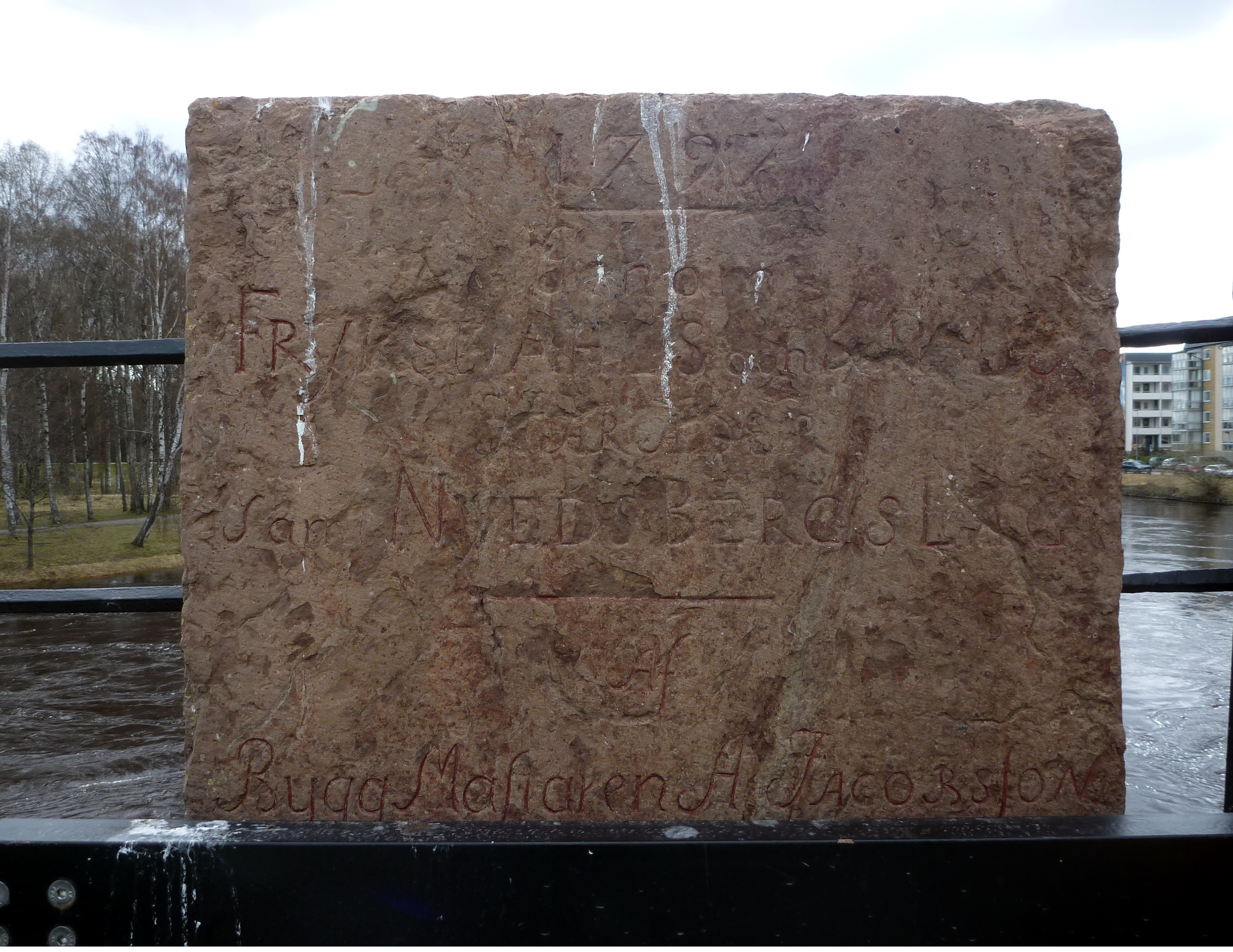 Östra stenen före restaurering