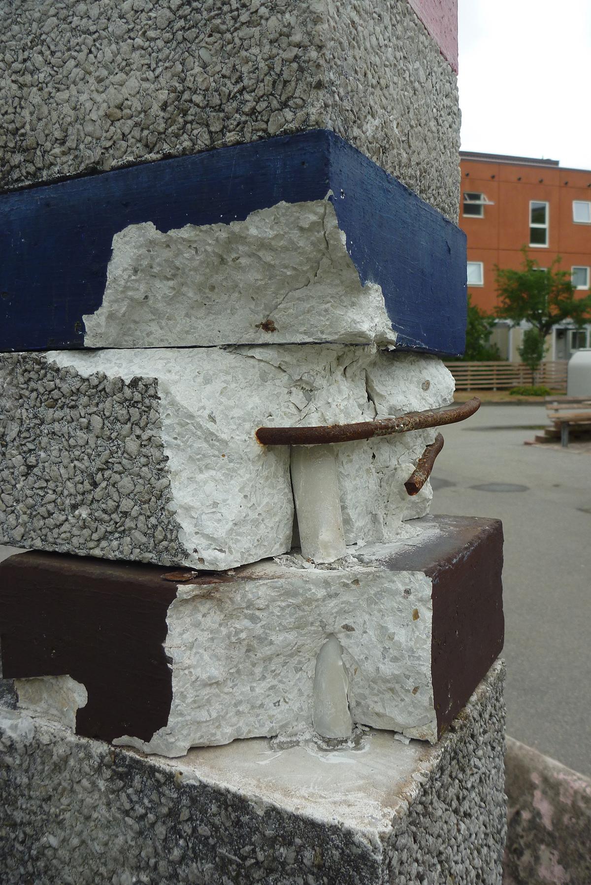 Exempel på skadade delar.