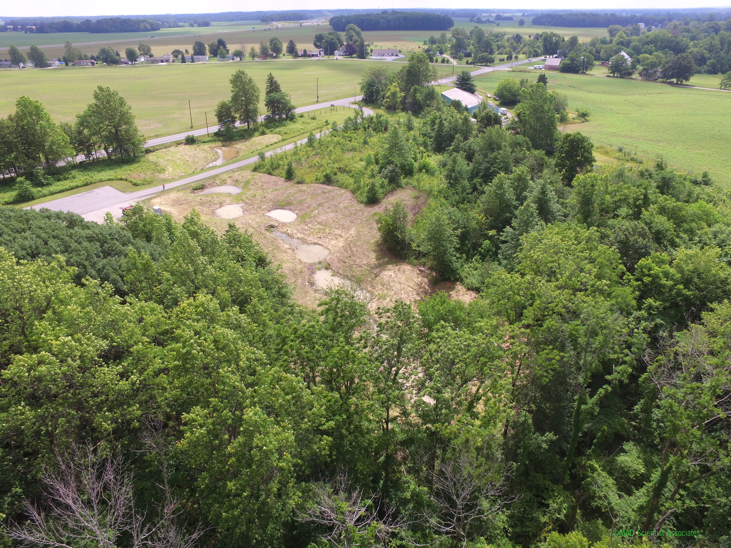 AERIAL DRONE SHOT TAKEN BY AARON AT HECKERT NATURE PRESERVE - CRAWFORD COUNTY PARK DISTRICT