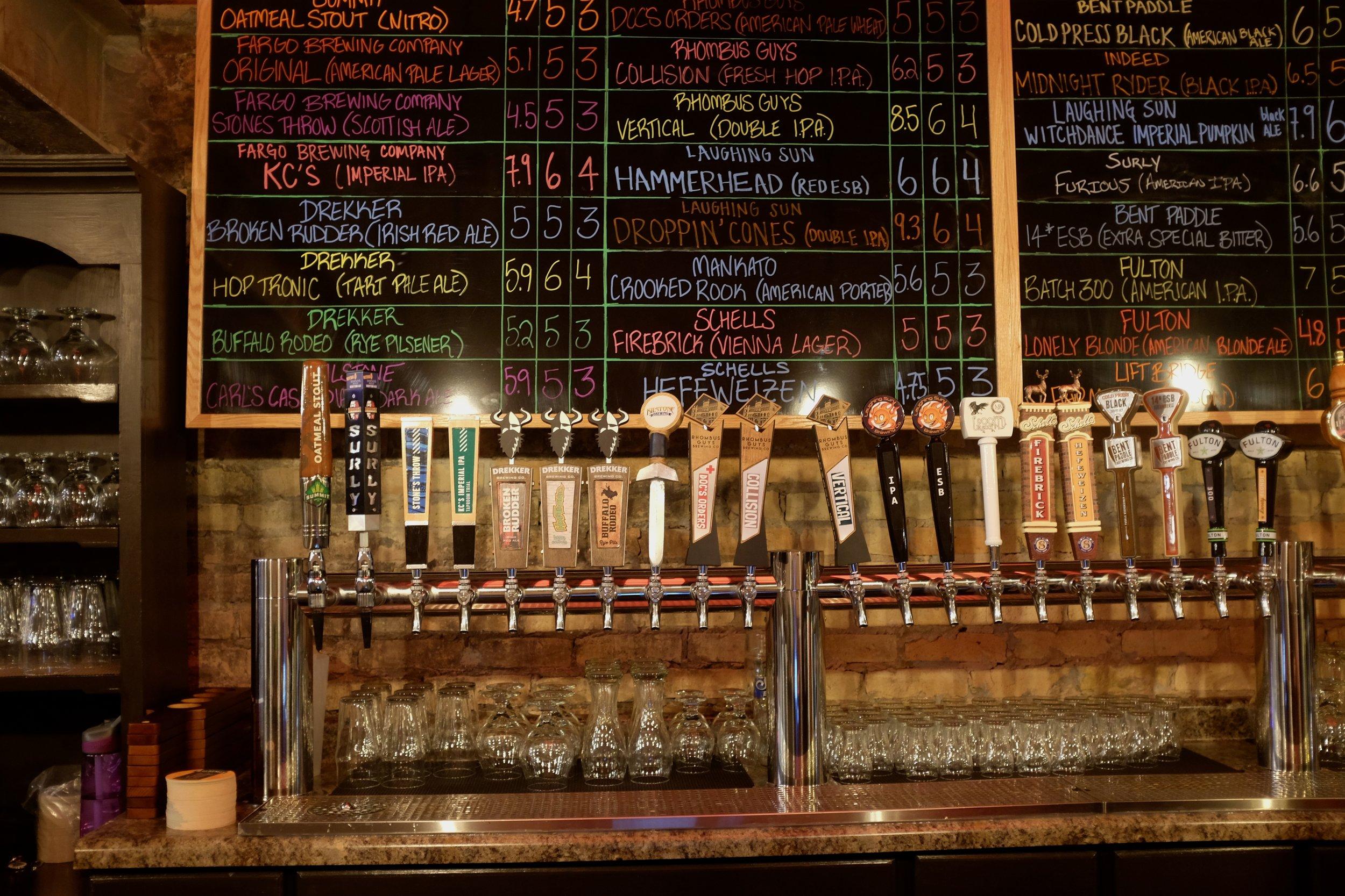 Front Street has 30 North Dakota and Minnesota beers on tap
