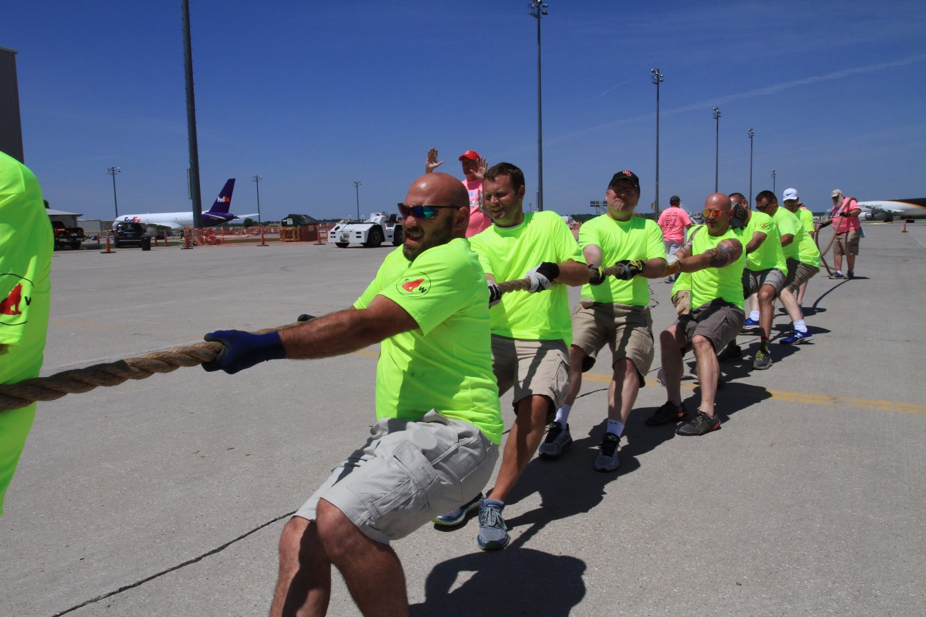 Special Olympics Plane Pull -