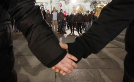 Thousands form human chain in Dresden