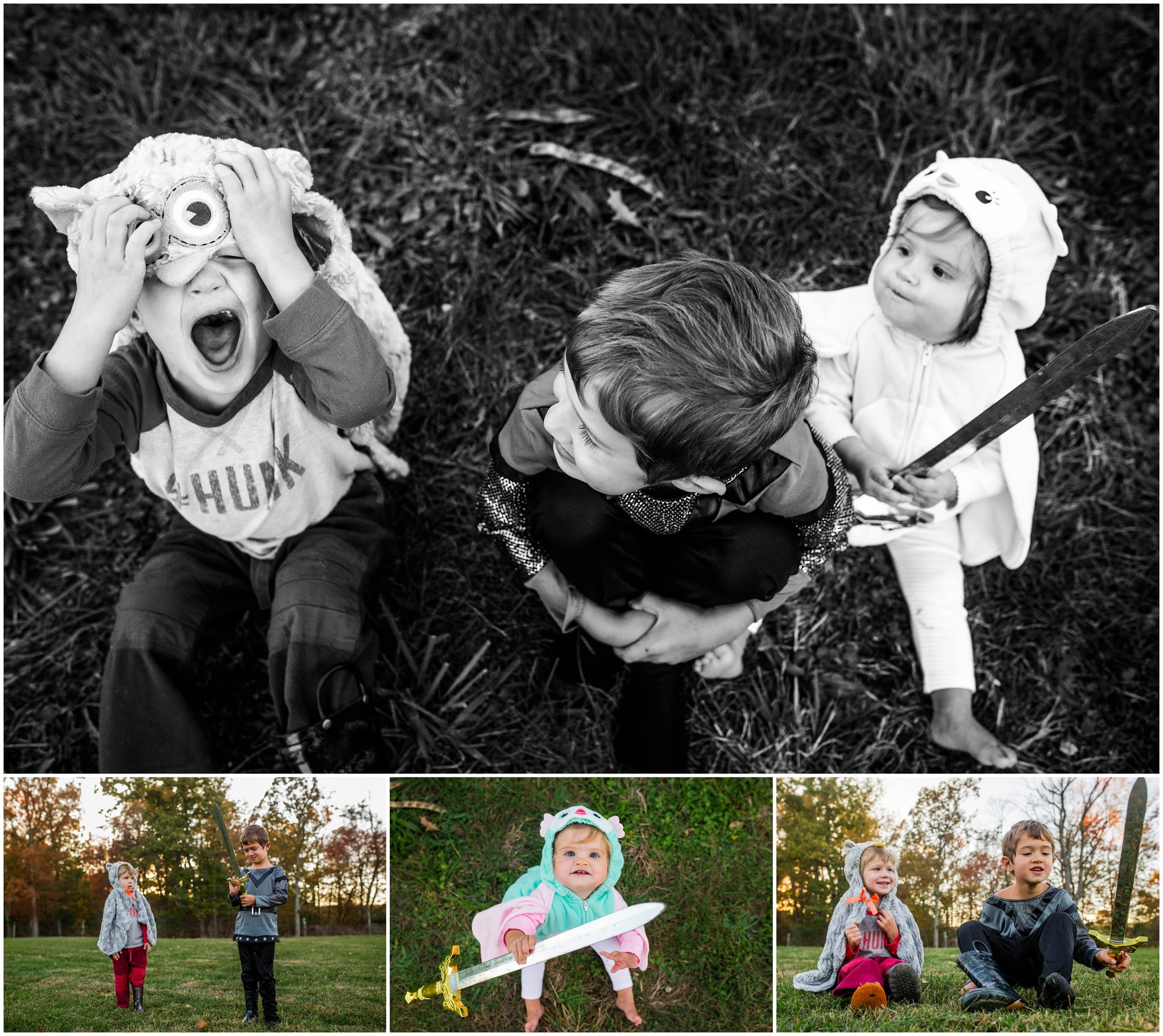 hollipoolphotography halloween, baby owl, siblings