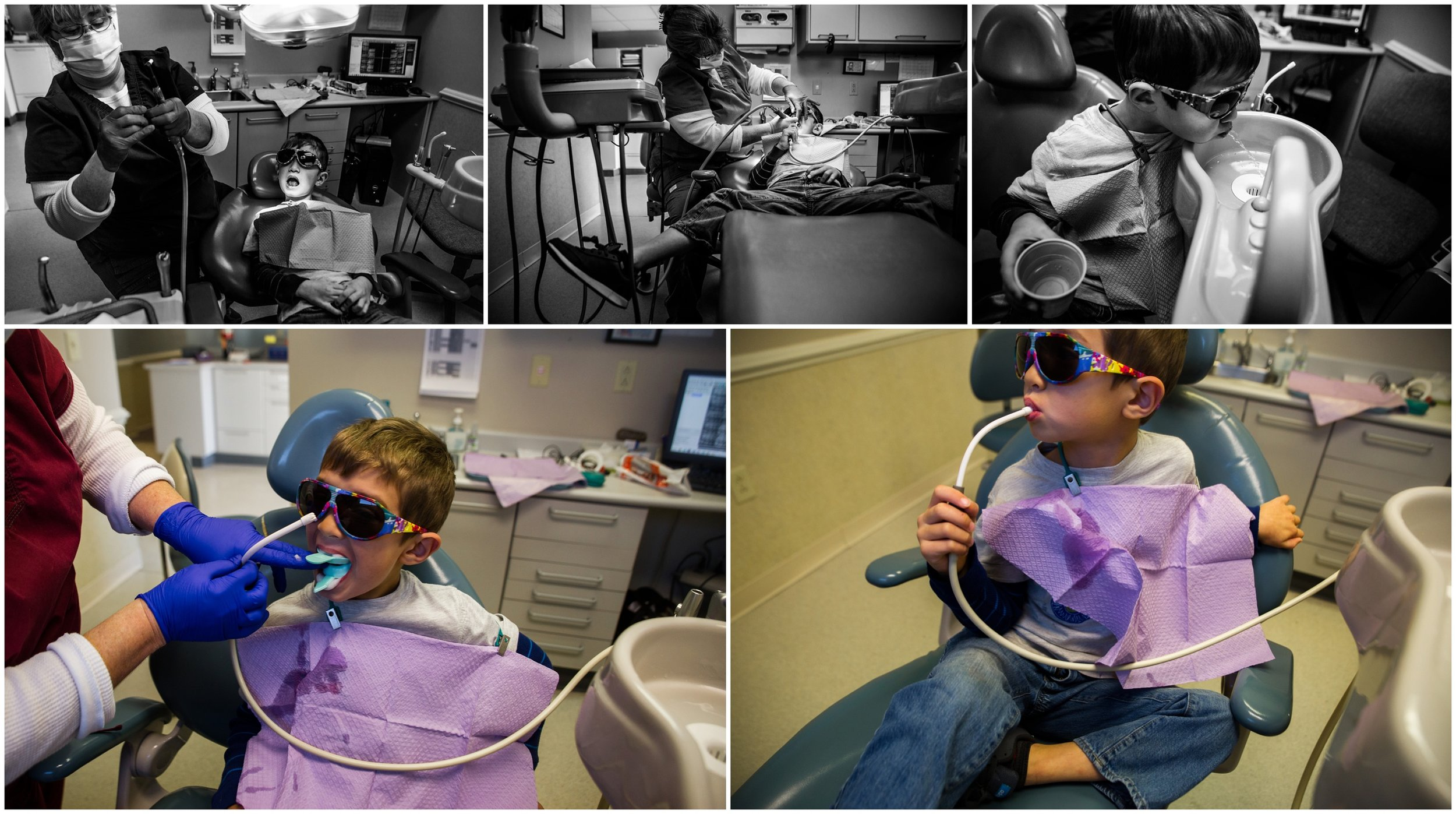 boy, dentist, Holli Pool Photography