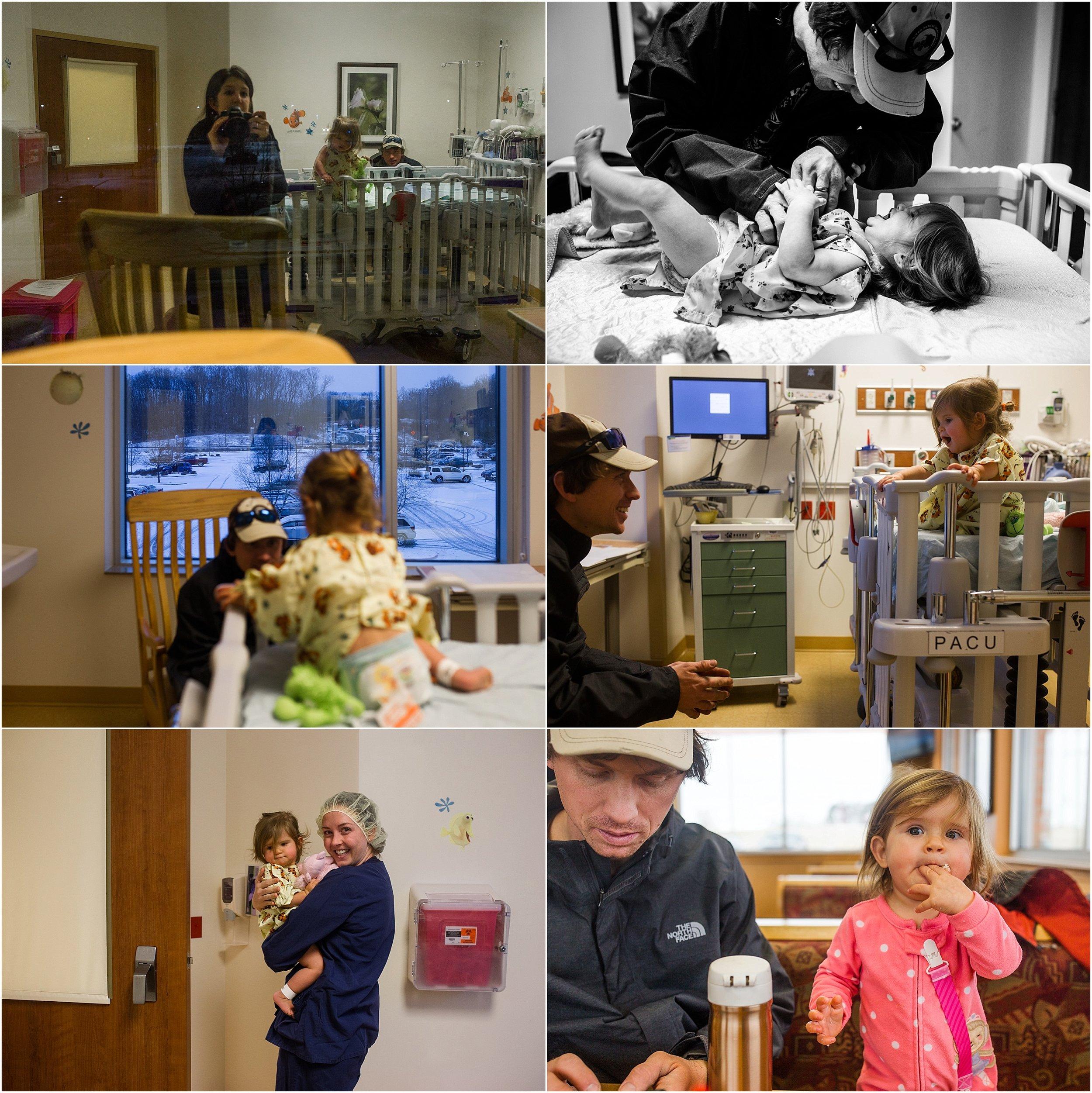 baby girl, surgery, ear tubes, Rockingham Memorial Hospital, Holli Pool Photography, Stuarts Draft, Virginia photographer