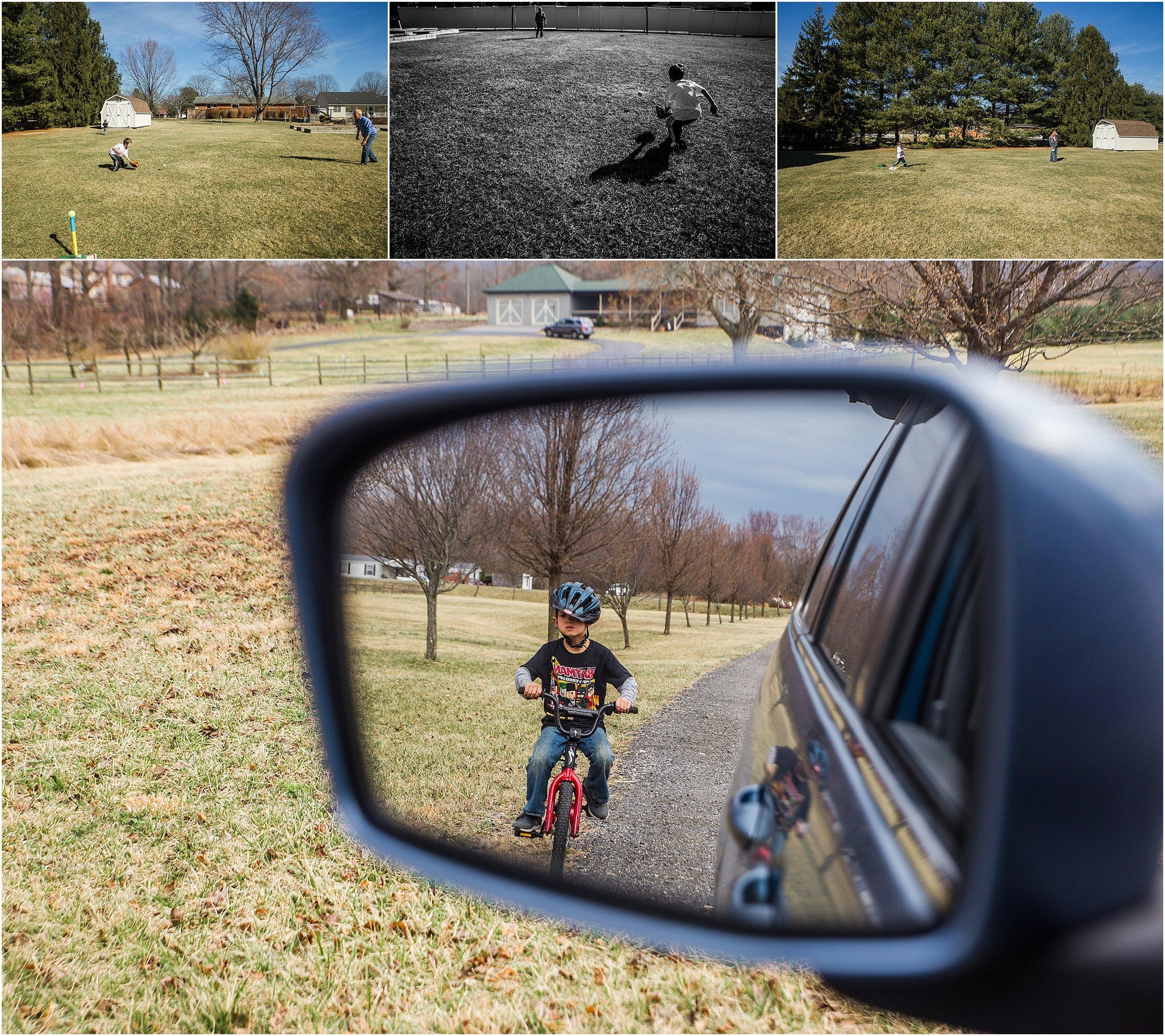 boy on bike and baseball Holli Pool Photography Stuarts Draft Virginia