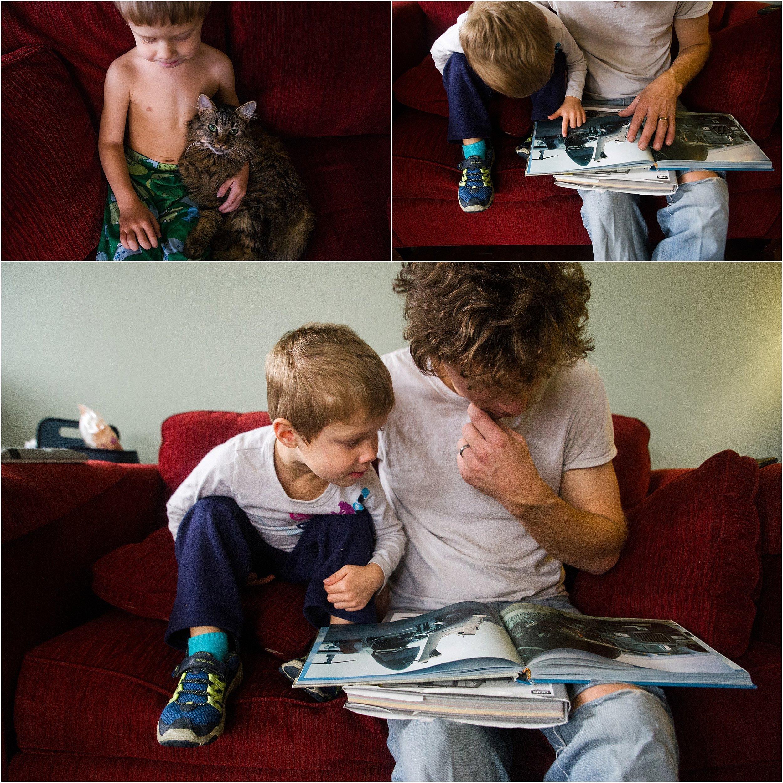 father and son kitten Holli Pool Photography Stuarts Draft Virginia