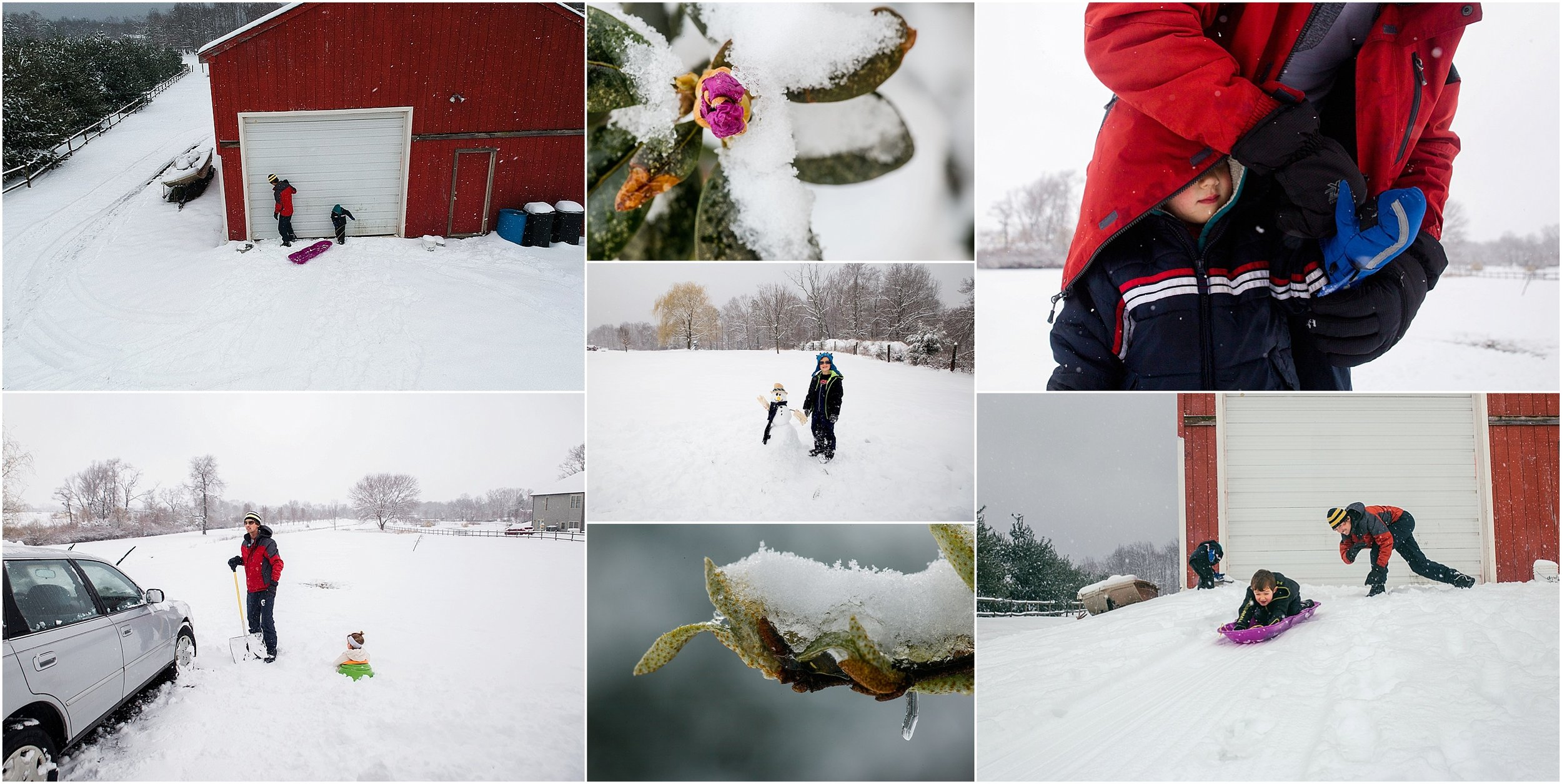 family photographer, Staunton, Waynesboro, Fishersville, snow day, kids in snow