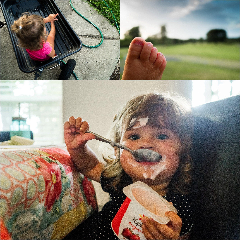 Virginia Family Documentary Photographer, little girl messy eating