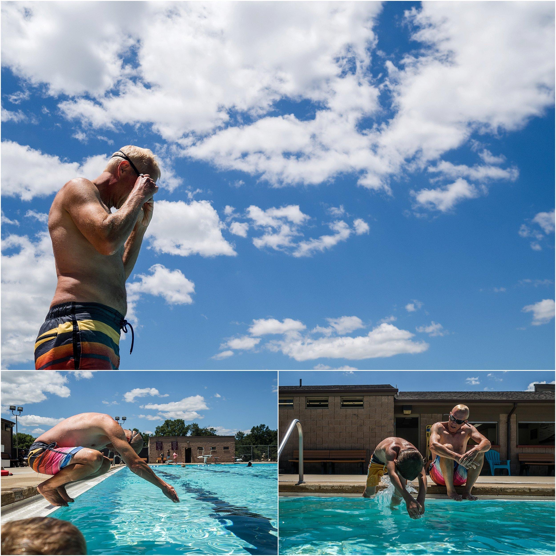 swimming pool, diving