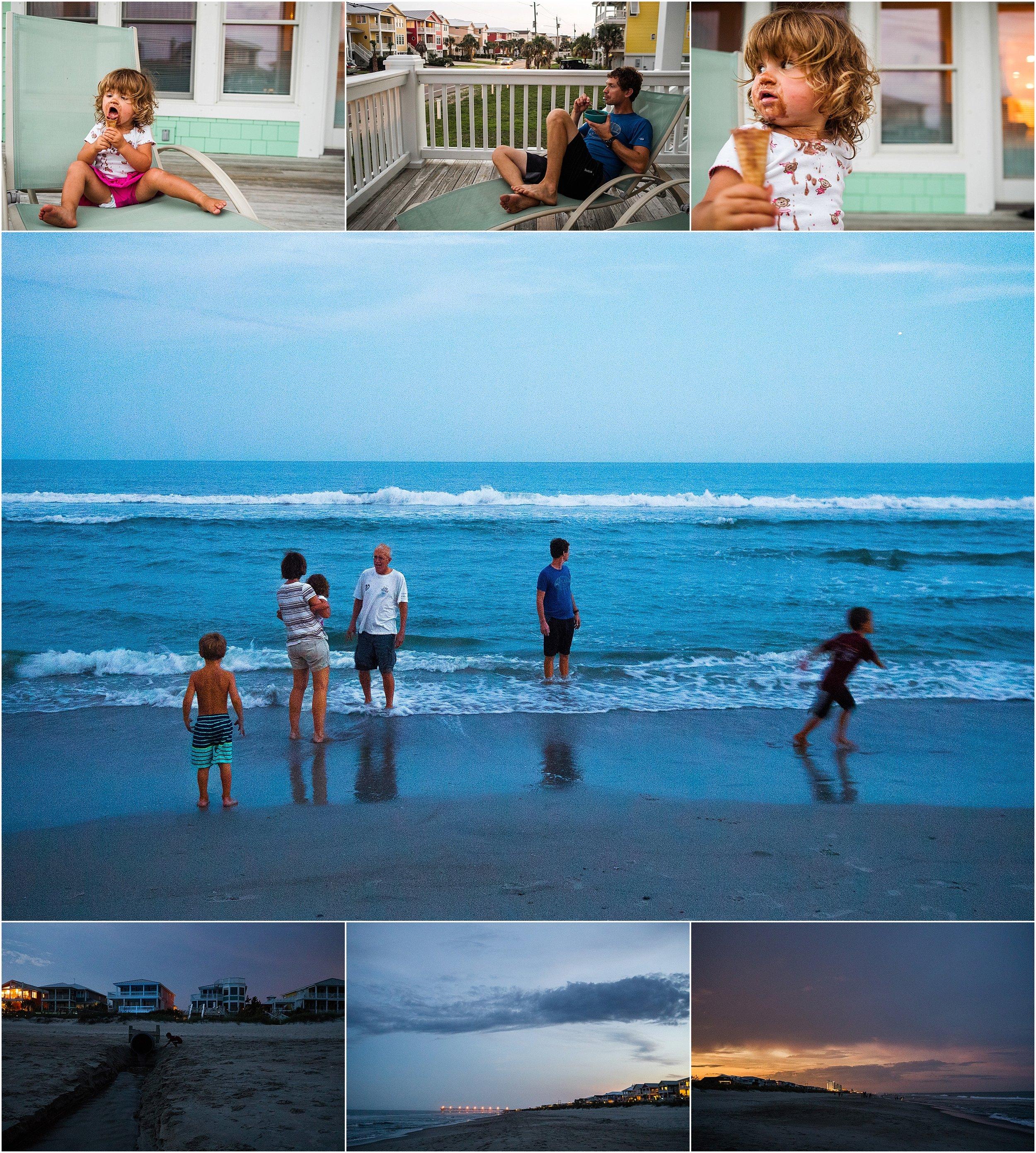 Vacation Documentary Family Photography Holli Pool Kure Beach North Carolina
