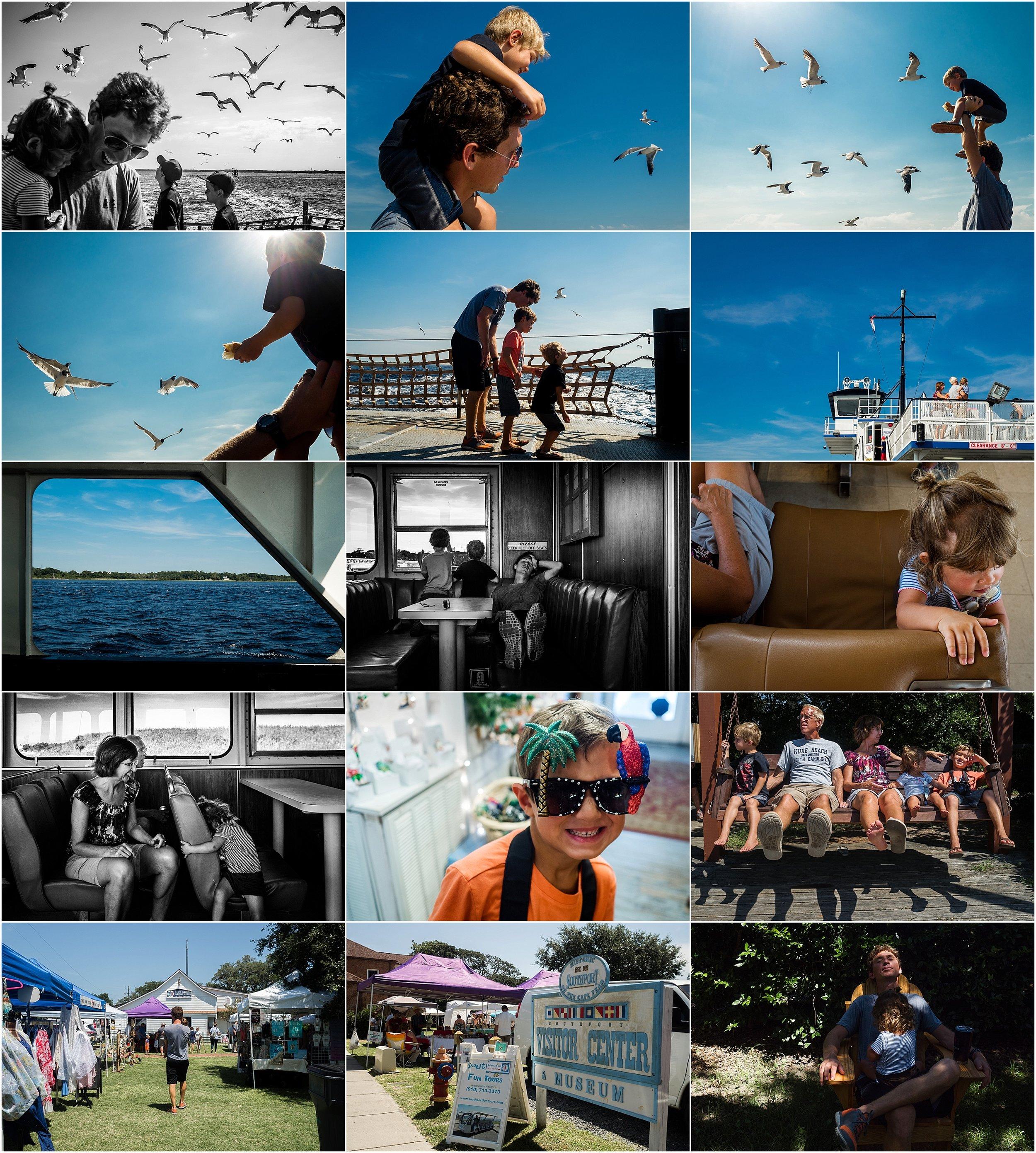 Vacation Documentary Family Photography Holli Pool North Carolina Southport