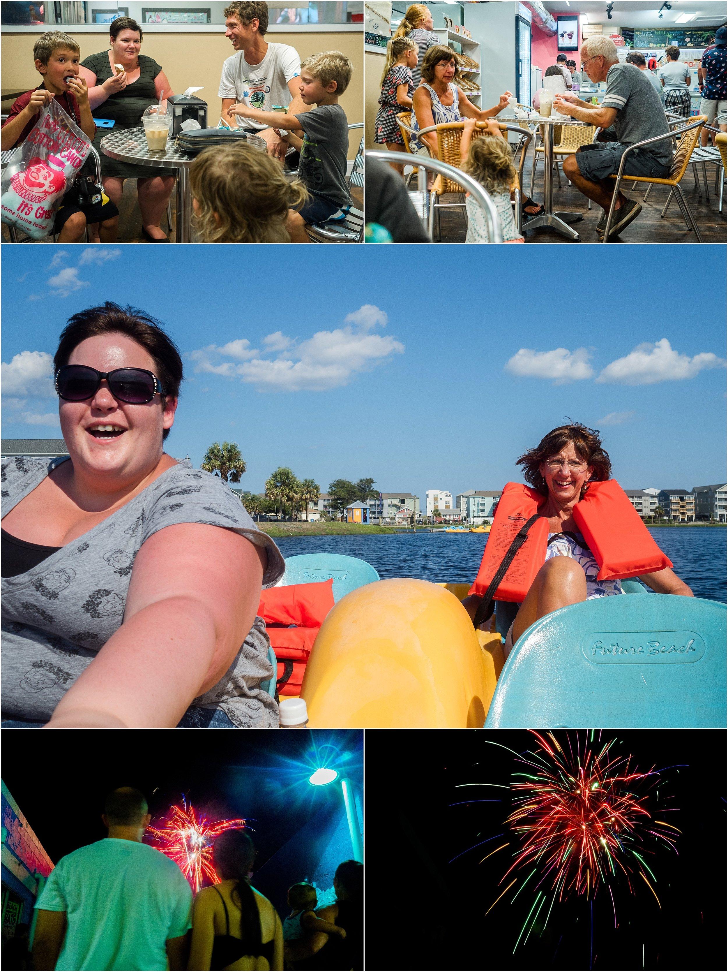 peddle boat Carolina Beach Lake Holli Pool Photography Vacation family documentary