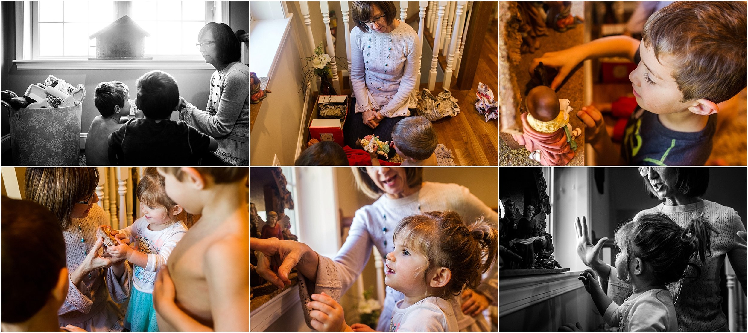 Christmas nativity, family photographer Virginia