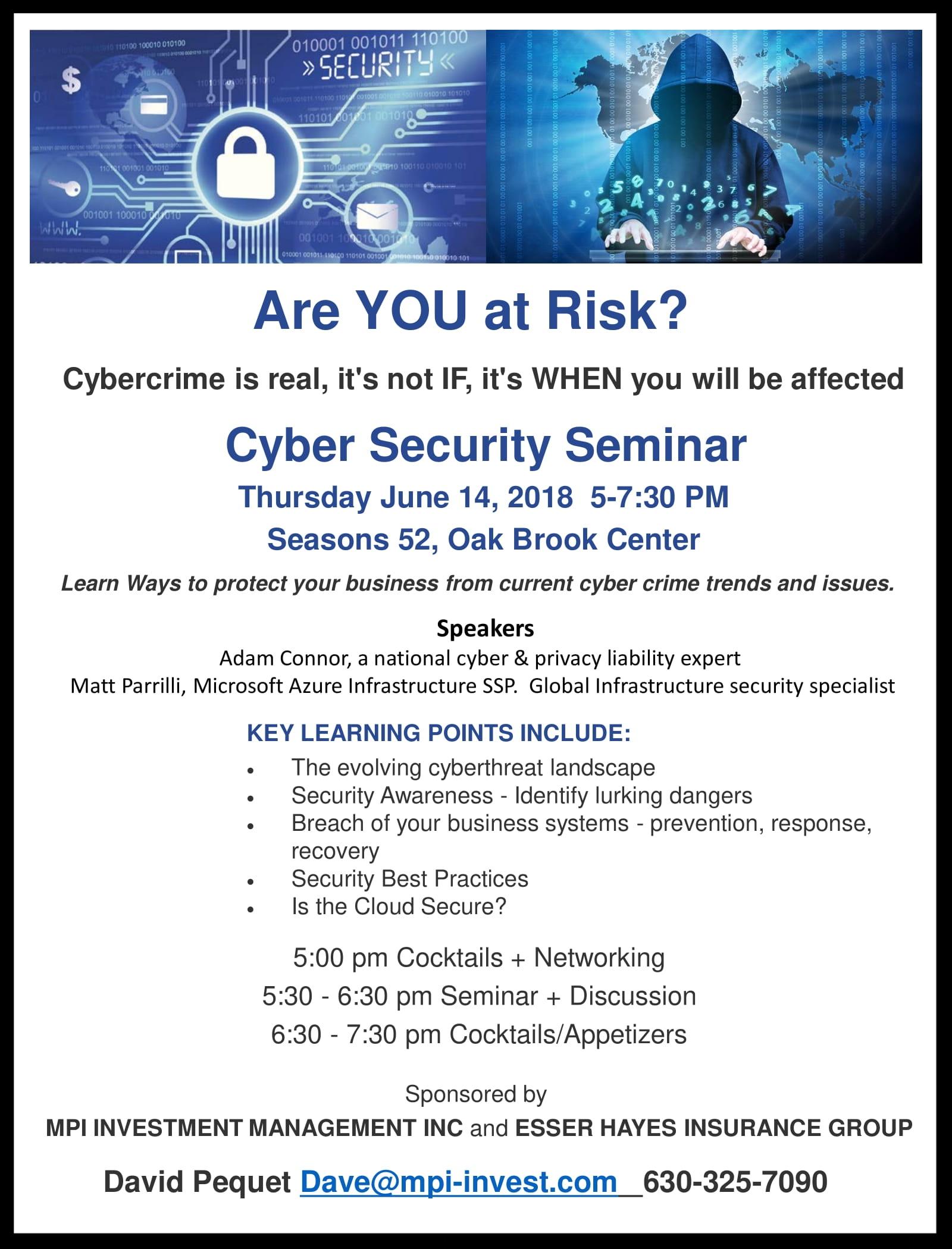 Cybersecurity Seminar June 2018