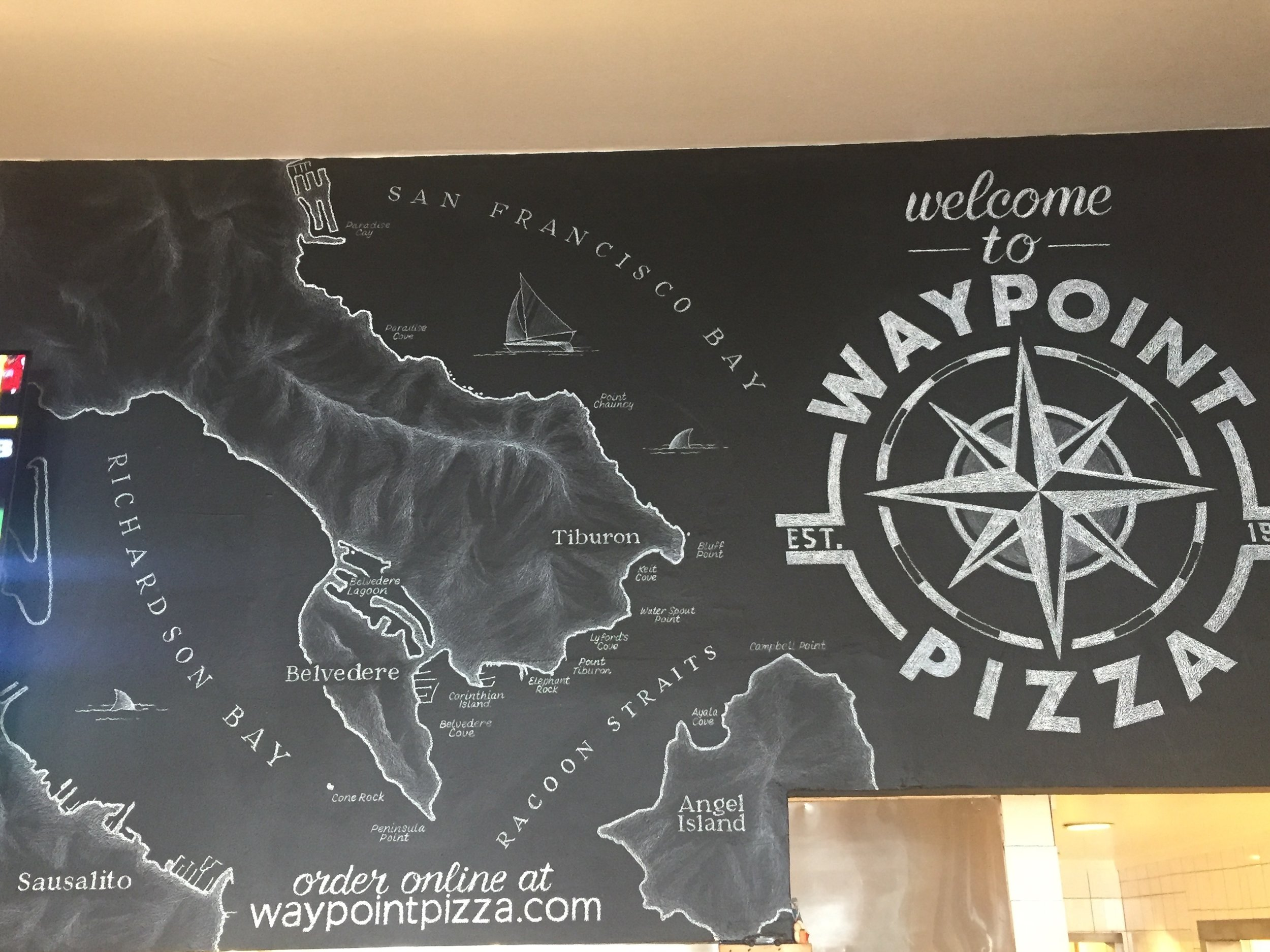 "Private art commission, ""Waypoint Pizza Mural"", Sausalito CA"