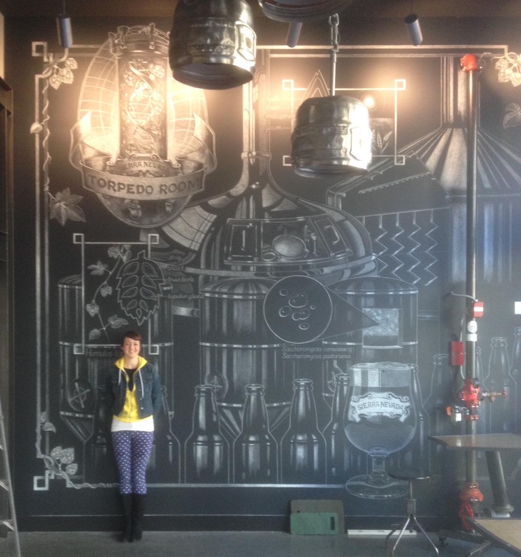 "Private art commission, ""Torpedo Room Mural"", Berkeley CA"