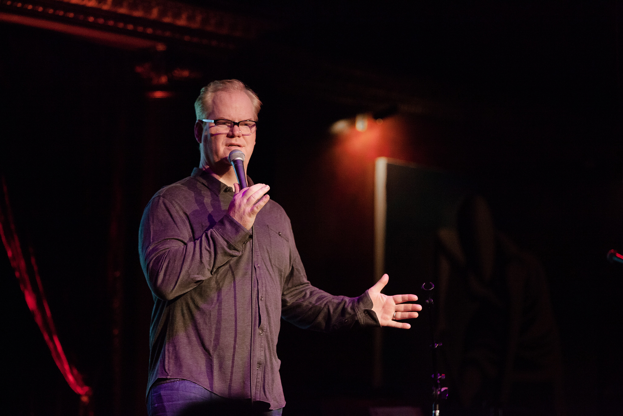 """Comedian Jim Gaffigan, hailed by the Wall Street Journal as """"the king of clean comedy,"""" will perform at the Jorgensen Center for the Performing Arts on Oct. 3, 2015.(Rainforest Action Network/Flickr)"""