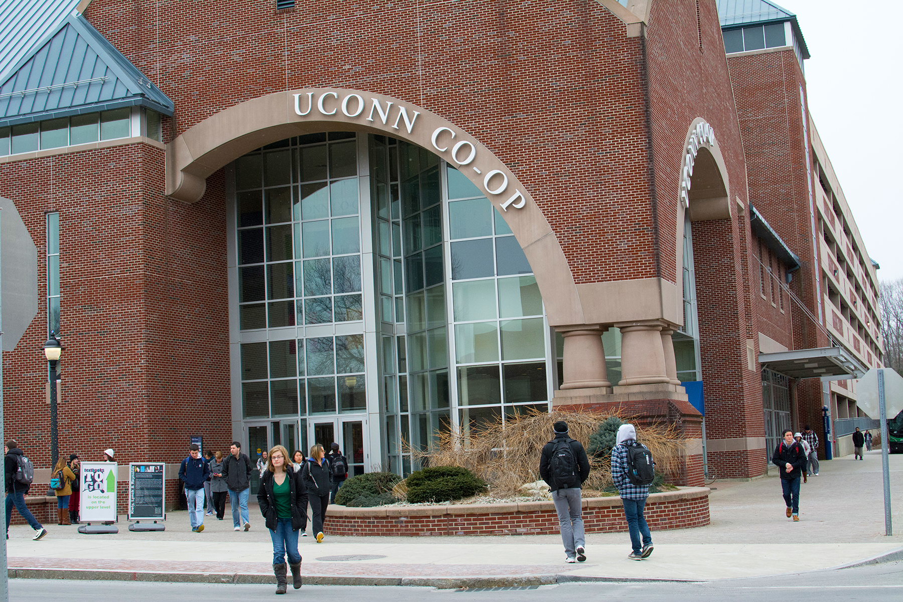 In this file photo, the UConn Co-op is pictured in Storrs, Connecticut.Book sales at the UConn Co-op have fallen nearly 30 percent from their peak five years ago as students increasingly search to buy textbooks from online retailers. (File Photo/The Daily Campus)