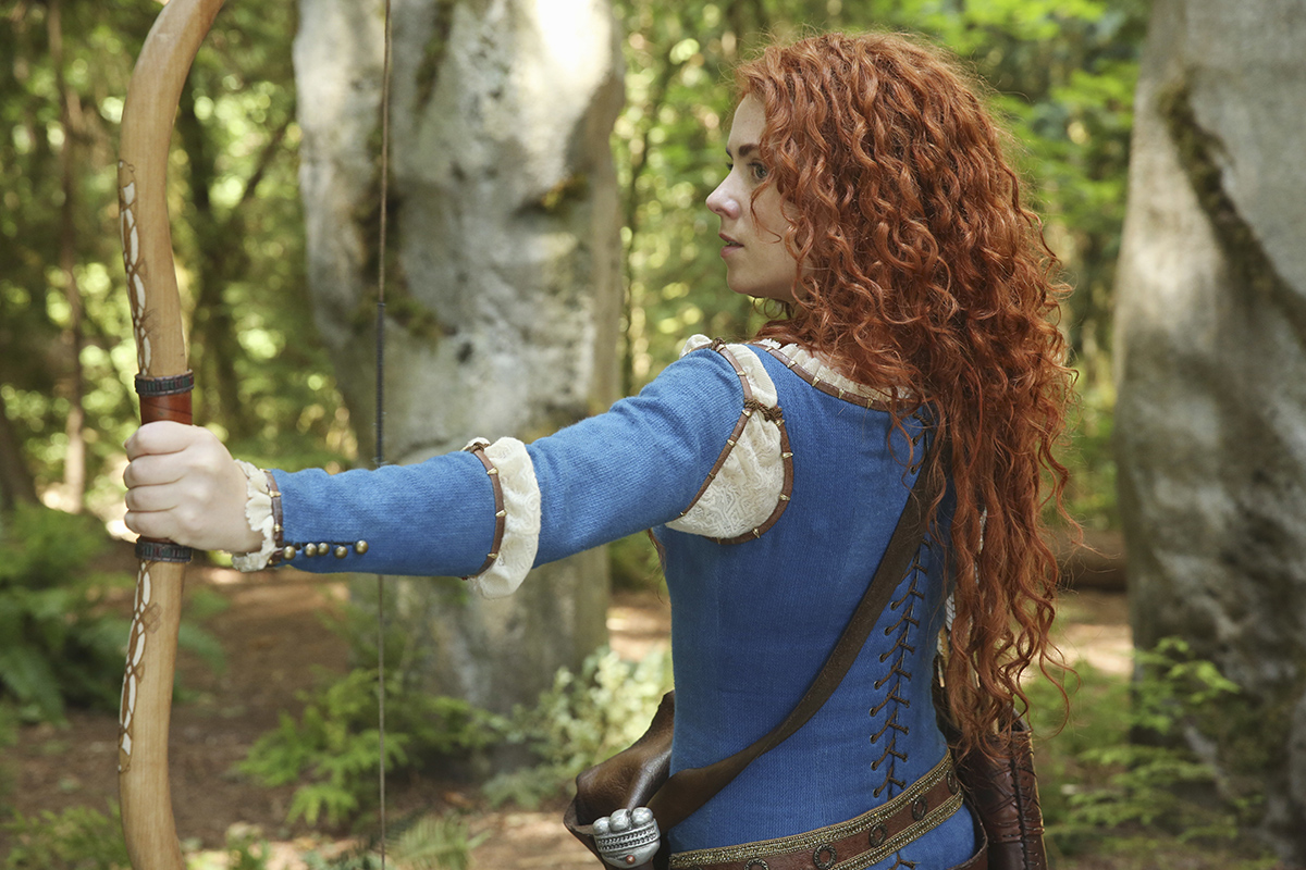 """Merida, a character from Pixar's """"Brave,"""" made an appearance on the show for the first episode of season five (Courtesy/ABC)."""
