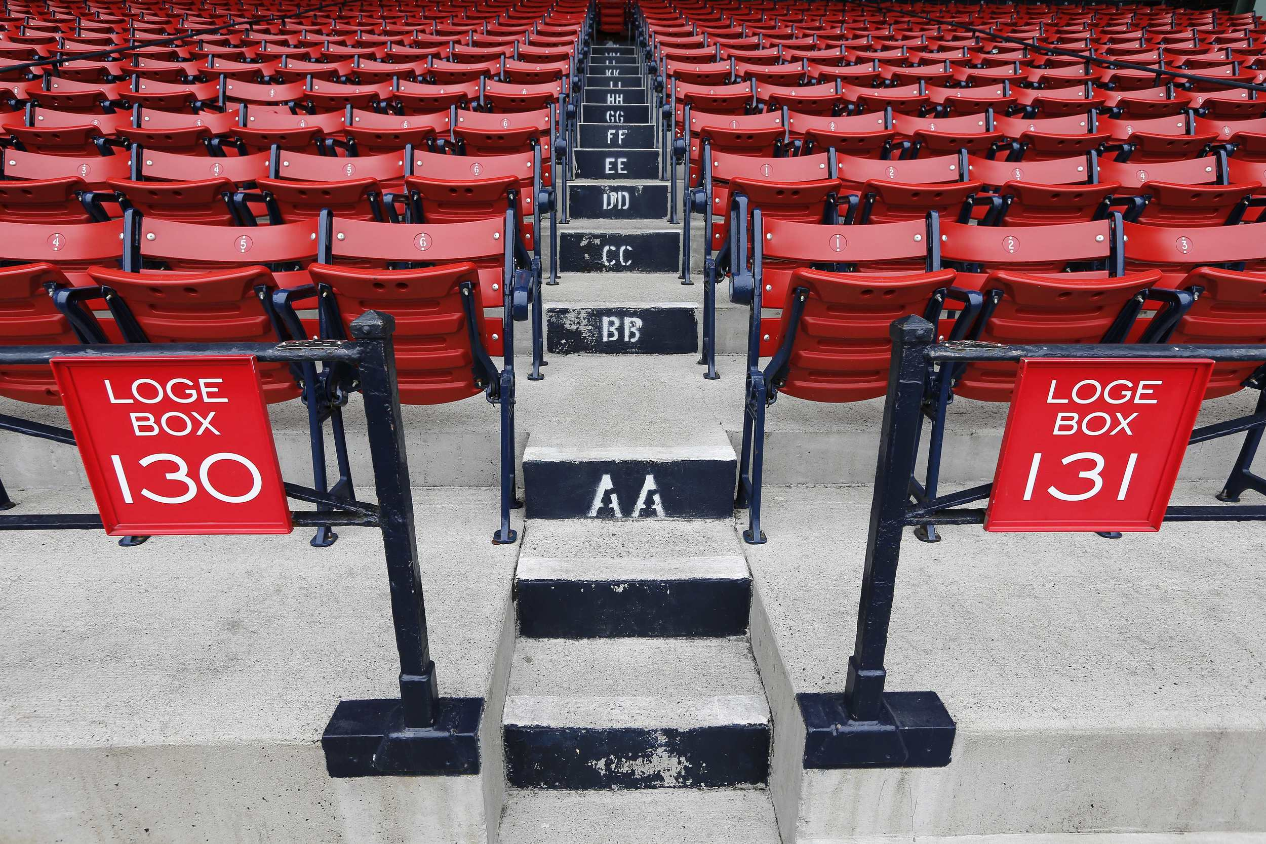 Empty seats are seen at Fenway Park in Boston, Monday, Oct. 5, 2015, a day after the Boston Red Sox finished the baseball season in last place in the American League East. (Michael Dwyer/AP)