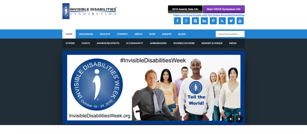 "This week is the beginning of Invisible Disabilities Week, a week to raise awareness for diseases that aren't immediately obvious but have a strong affect on patients. Parkinson's, Epilepsy, Bipolar Disorder or Lyme Disease are a few of the ""invisible"" disabilities. (Screenshot/Invisible Disabilities Association)"